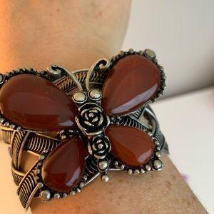 Butterfly statement bracelet